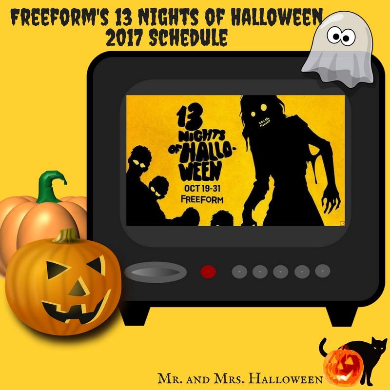 freeform 39 s 13 nights of halloween 2017 schedule mr and mrs halloween. Black Bedroom Furniture Sets. Home Design Ideas